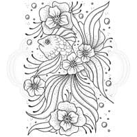 Creative Expressions Designer Boutique Collection A6 Clear Stamp - Floral Bubbles